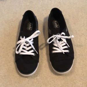 Keds canvas shoes - black and gray